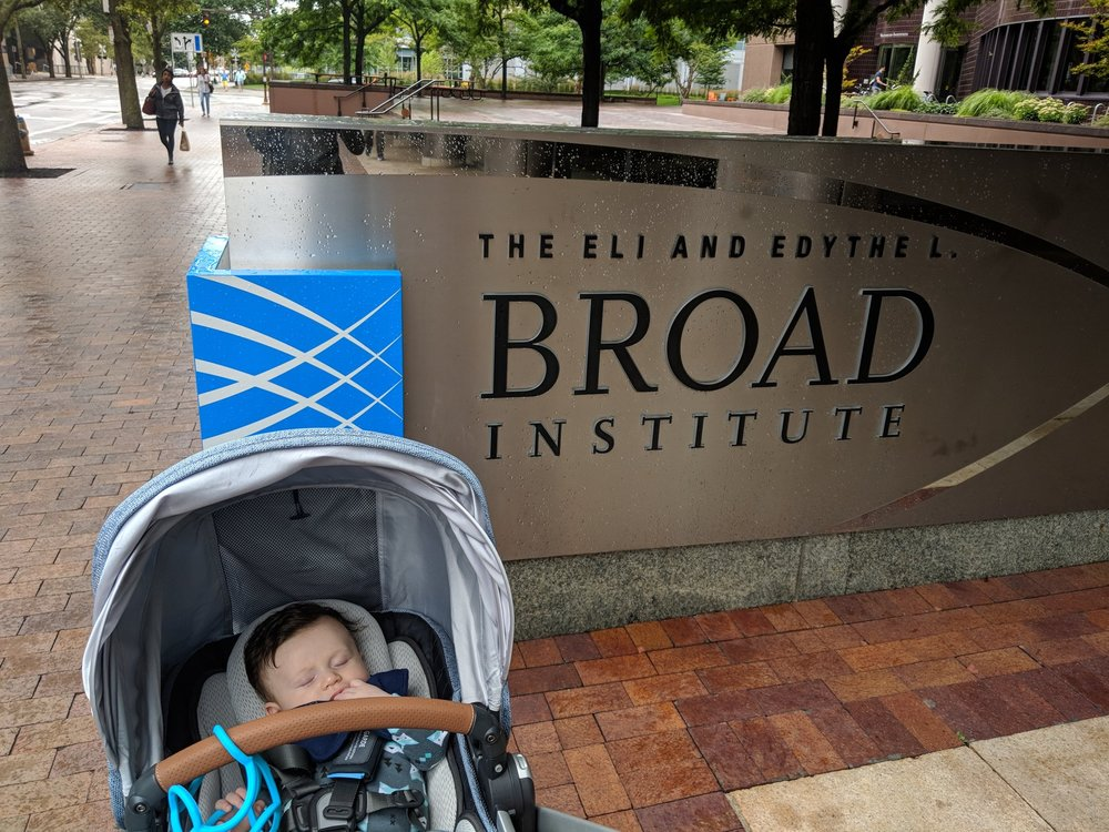 Visiting the Broad Institute on the first solo trip I took with our daughter, which we did via Amtrak.